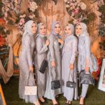 Baju Seragam Bridesmadi Nuansa Silver