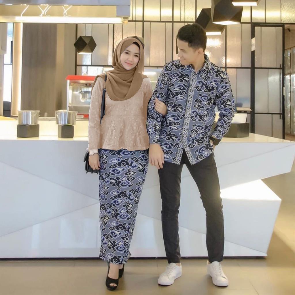 Baju batik motif mega mendung