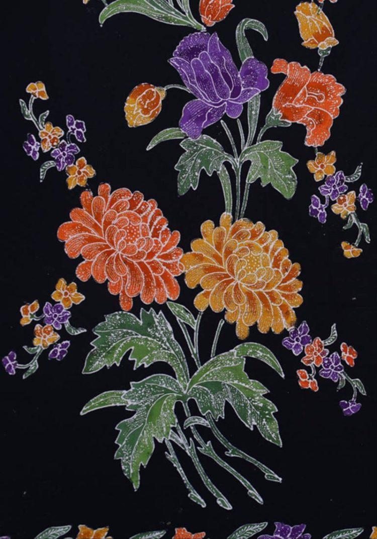 Batik Motif Bunga Krisan