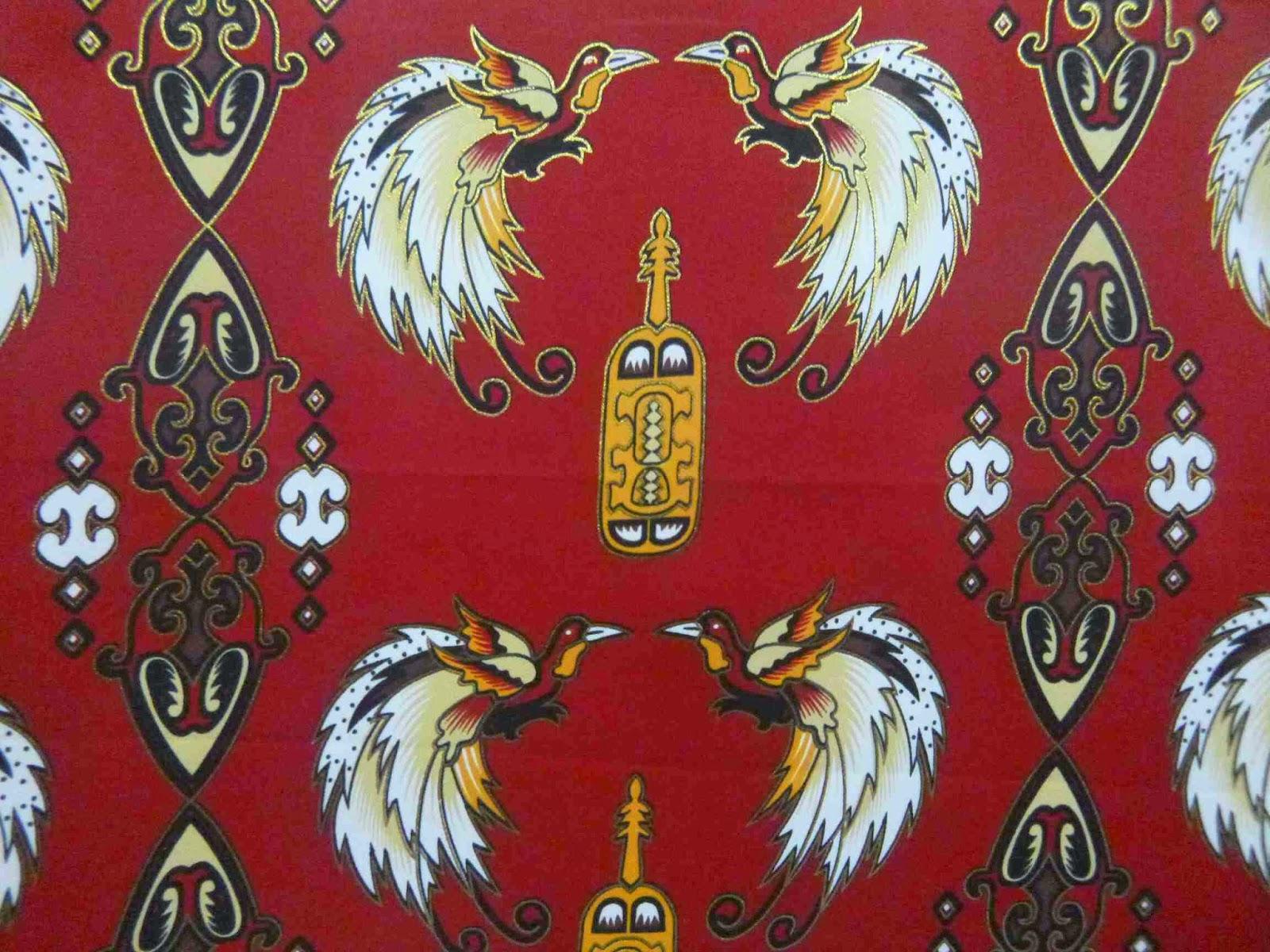 Batik Papua Motif Tifa Honai