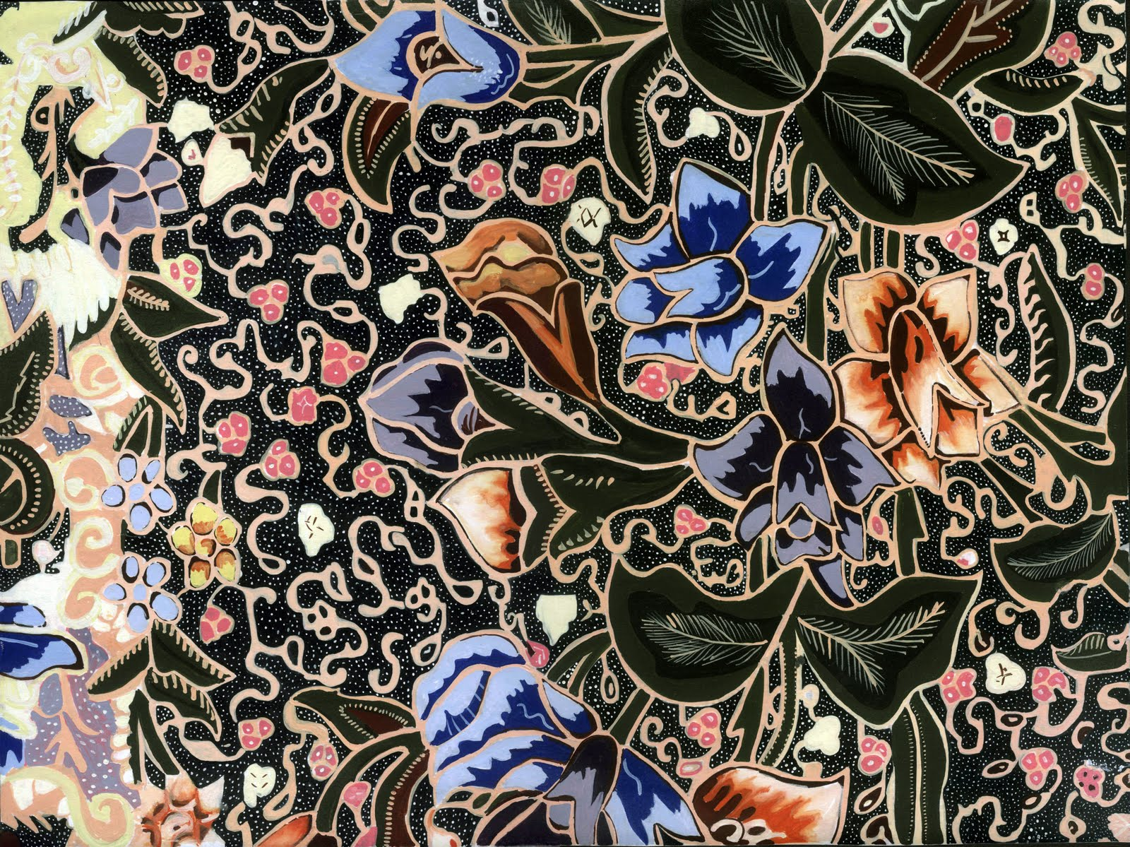 Batik pekalongan motif batik tujuh rupa