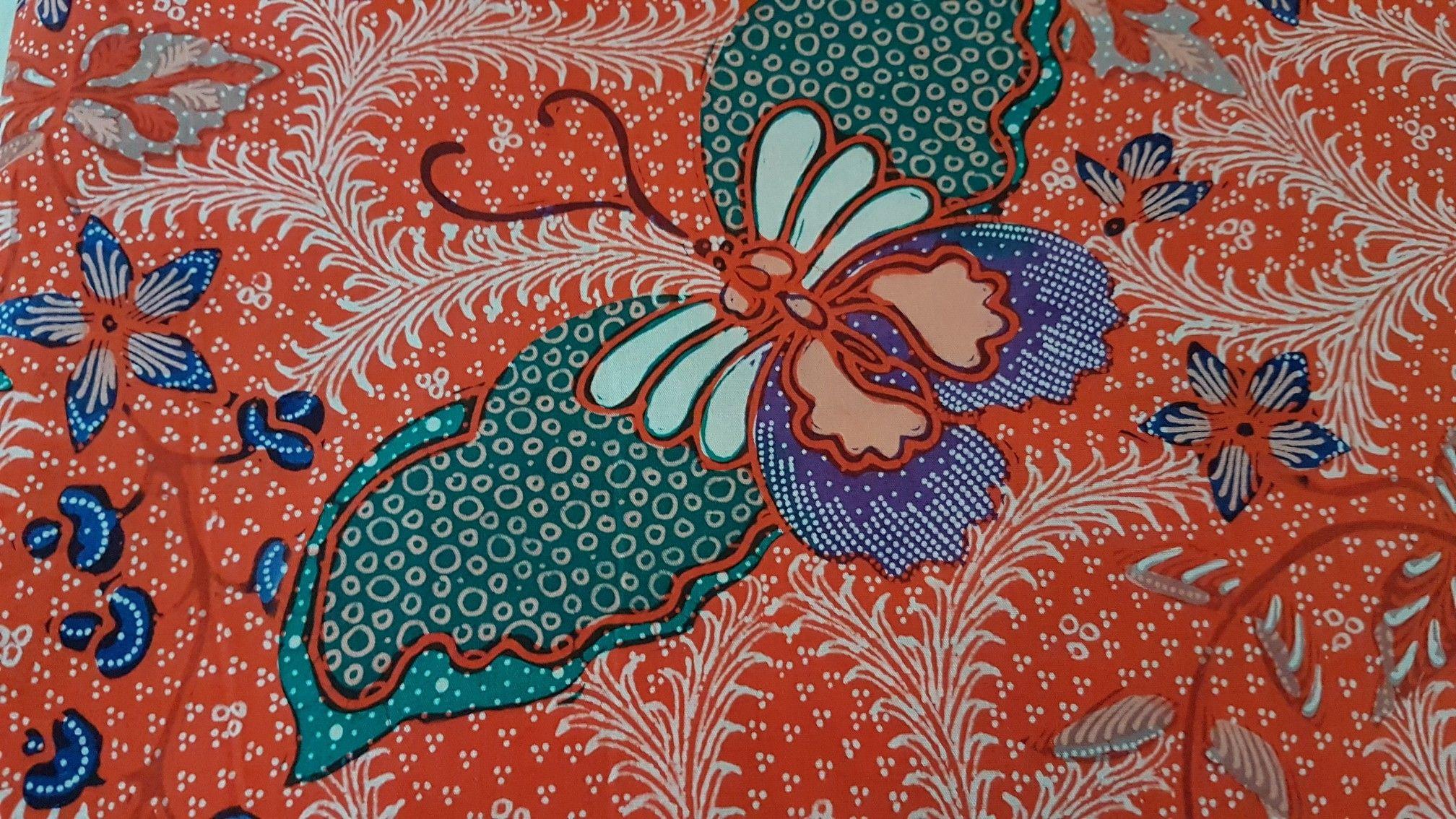 Batik pekalongan motif butterfly