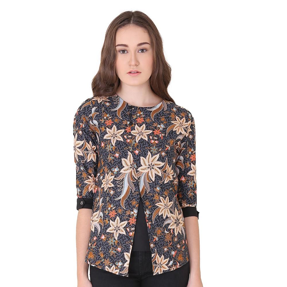 Blazer Batik Bali Motif Bunga