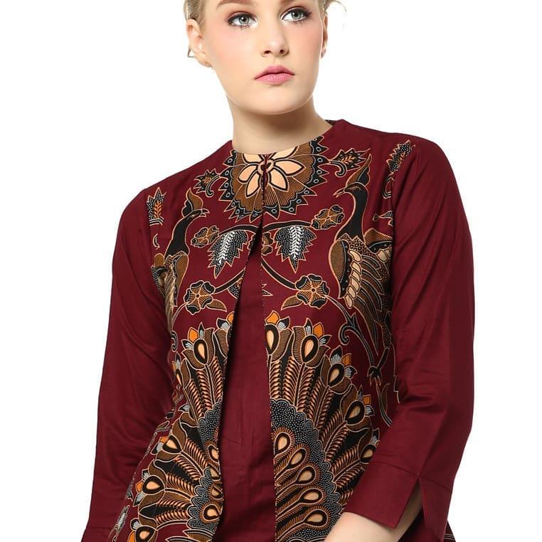 Blouse Batik Sidomukti Model Belah Tengah