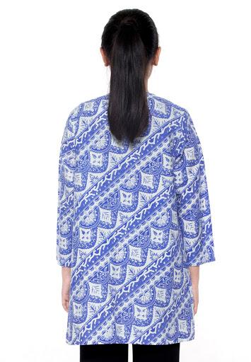 Blus Batik Panjang Motif Bunga Diagonal