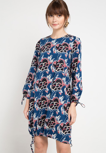 Blus Batik Panjang Motif Sisik