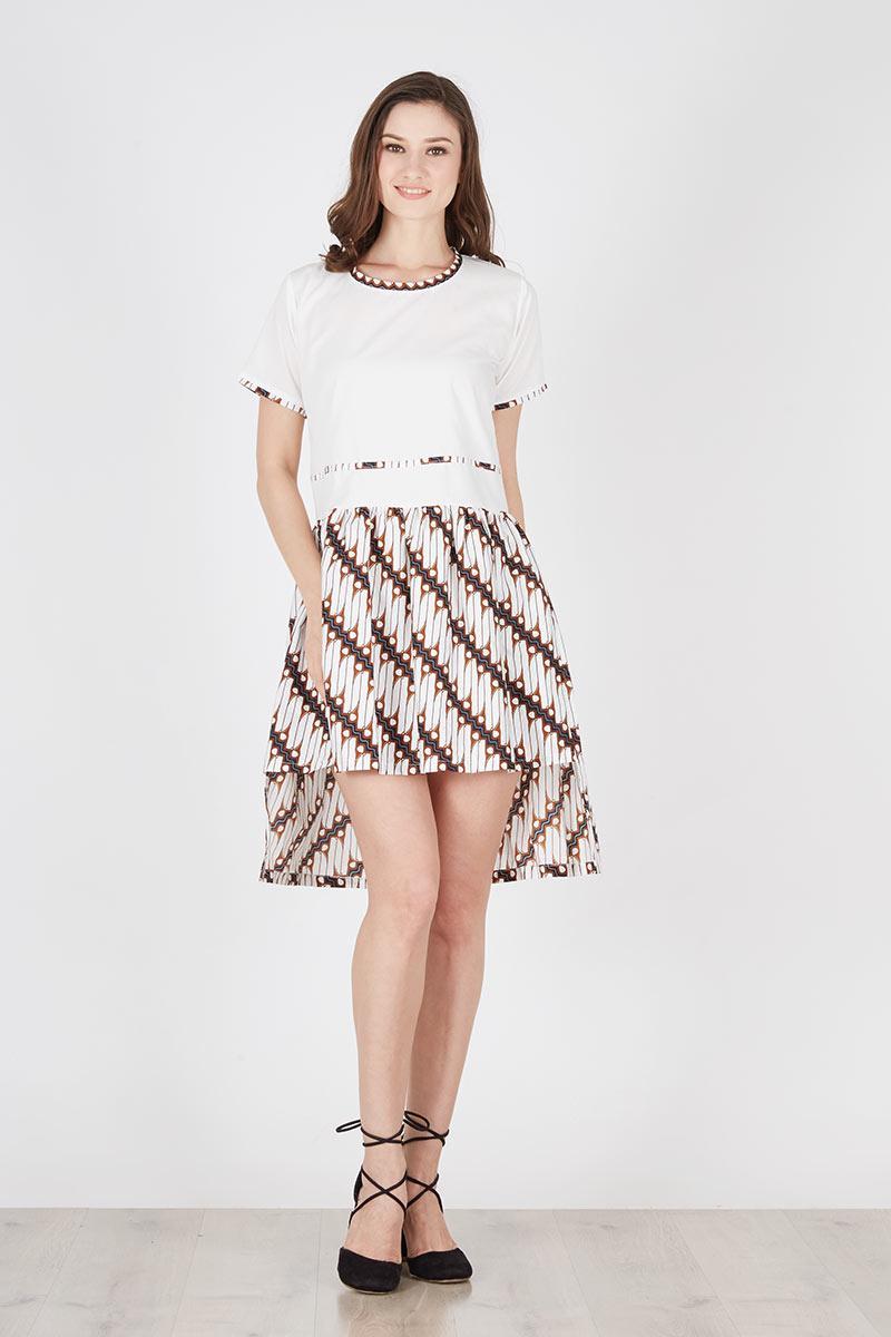 Dress Batik Parang Kombinasi