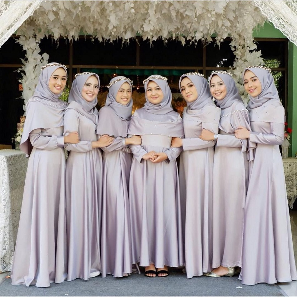 Dress Bridesmaid Hijab Polos