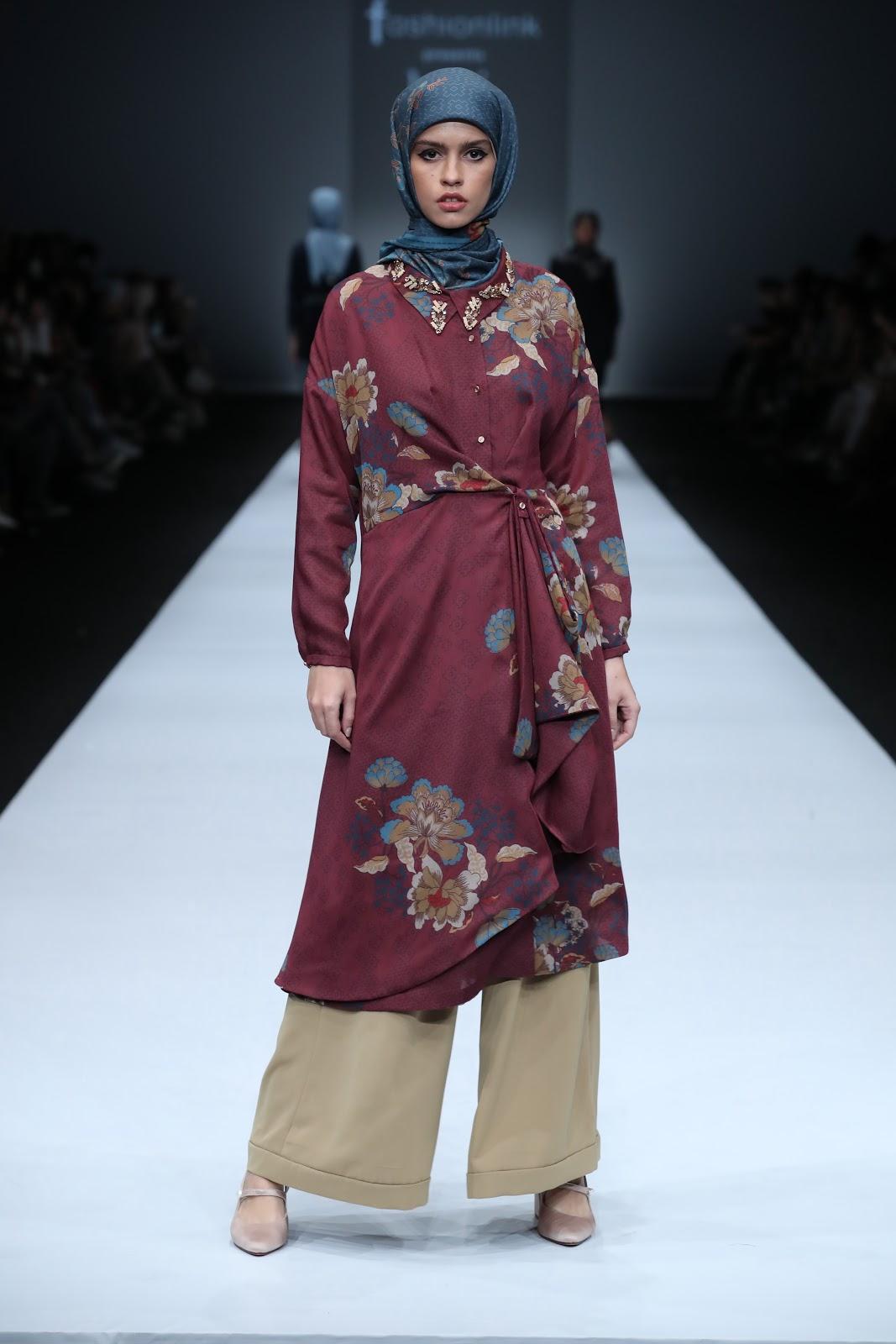 Gamis Tunik Batik Motif Bunga