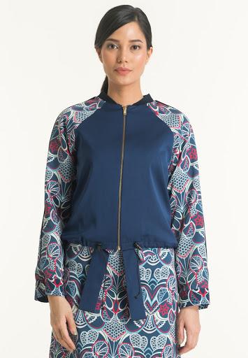 Gaun Batik Resleting Depan