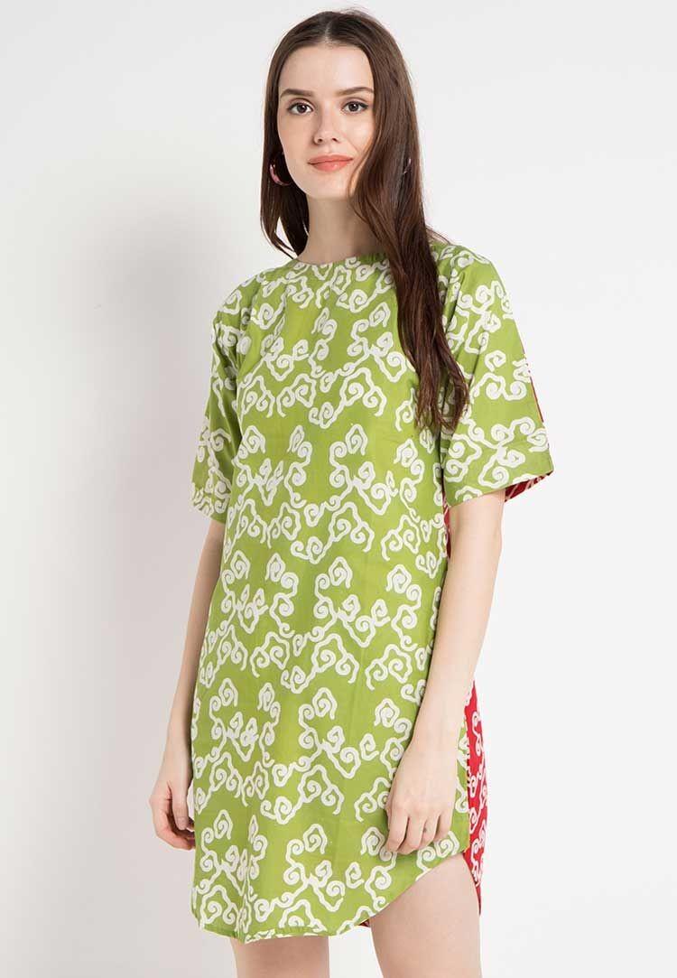 Midi Dress Mega Mendung