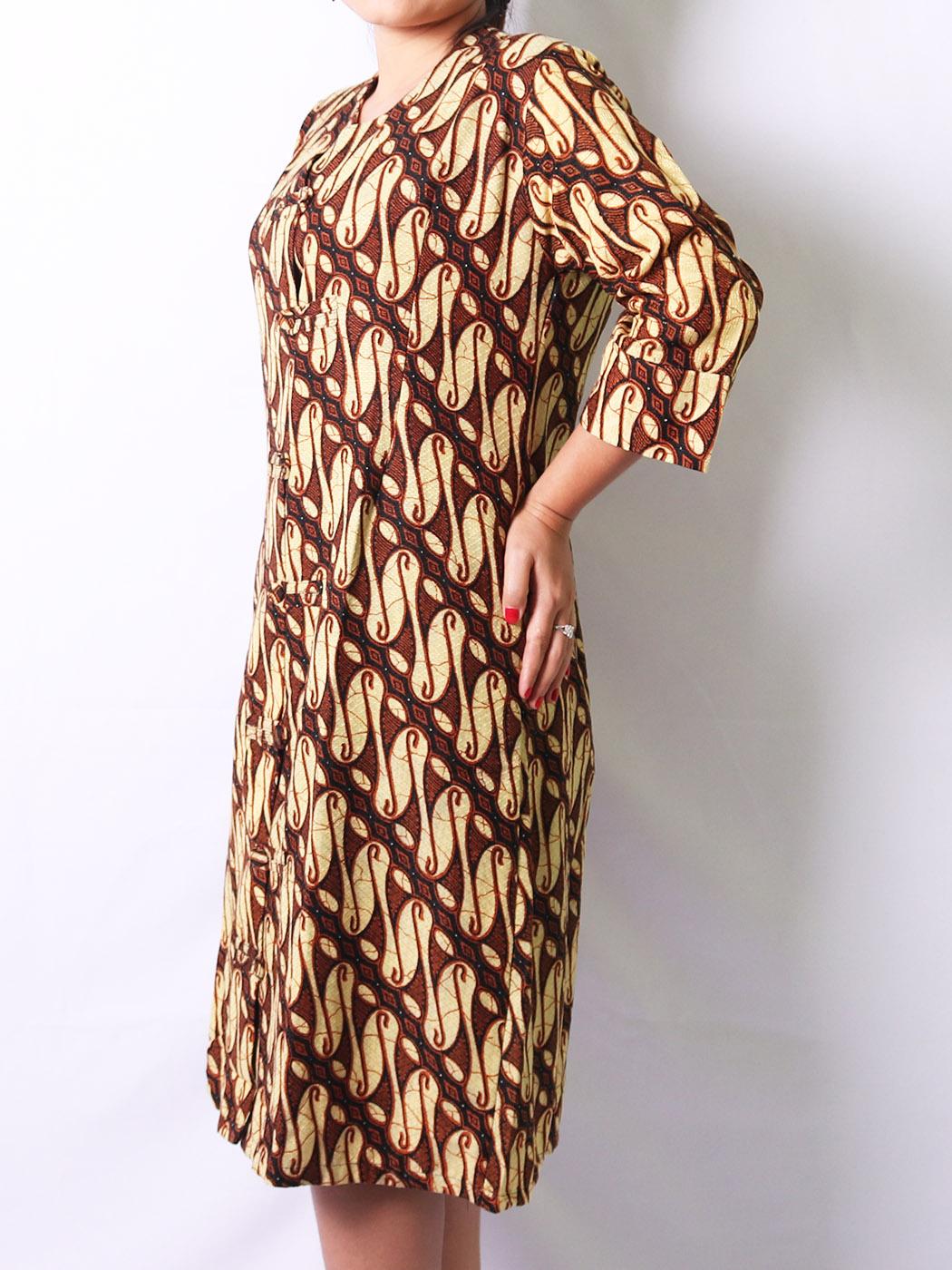 Minidress batik motif parang