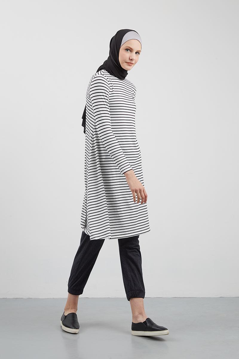 Model Baju Tunik garis2