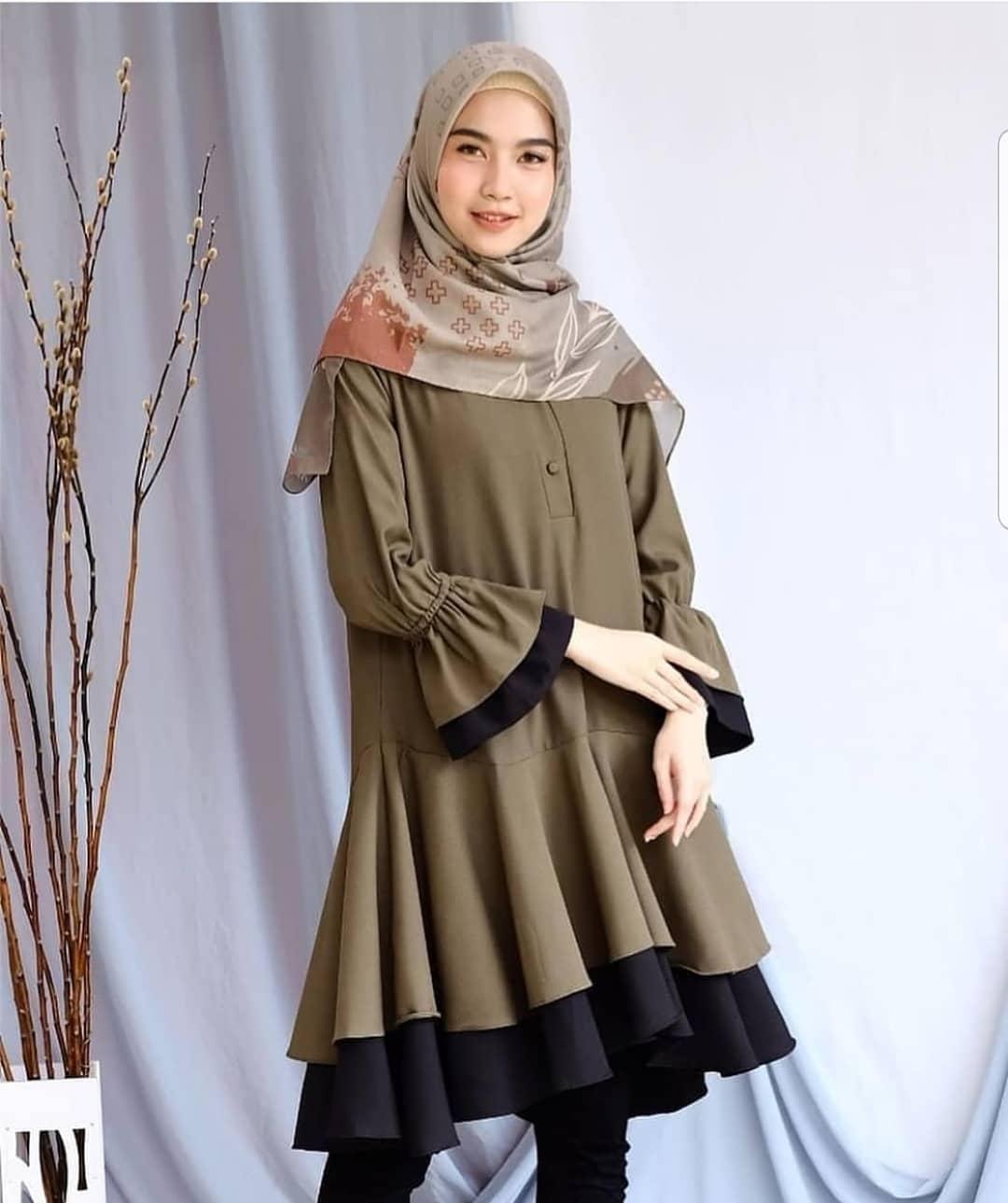 Model Baju Tunik panjang