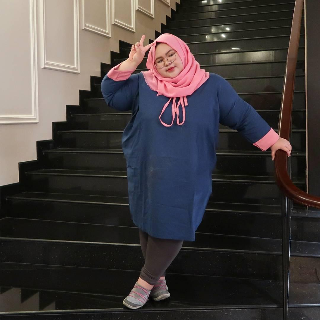 Model Baju Tunik untuk wanita gemuk