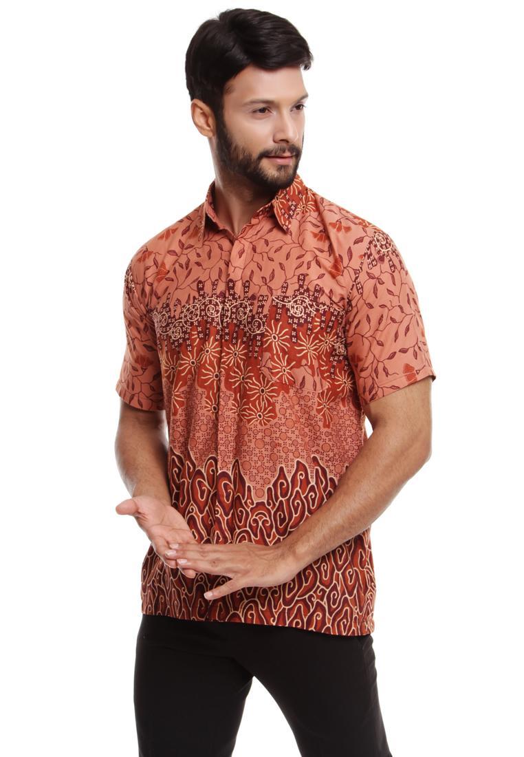 hem batik pria mega mendung flora