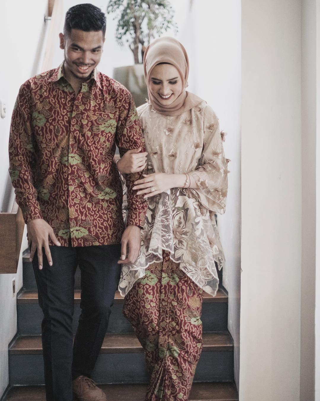 model baju brokat couple