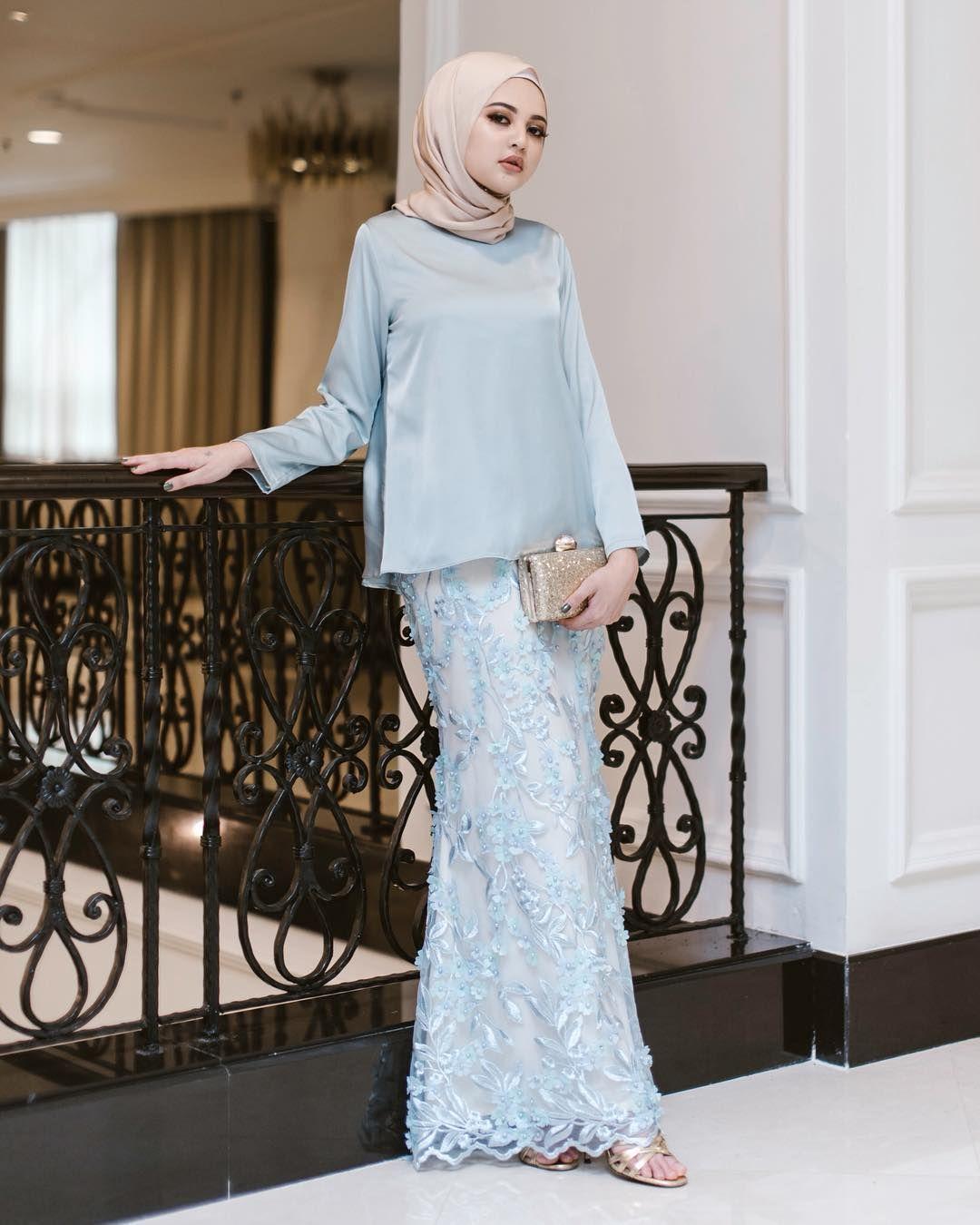 model baju brokat hijab