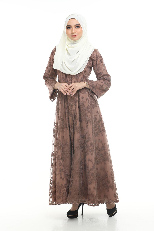 model baju brokat jubah