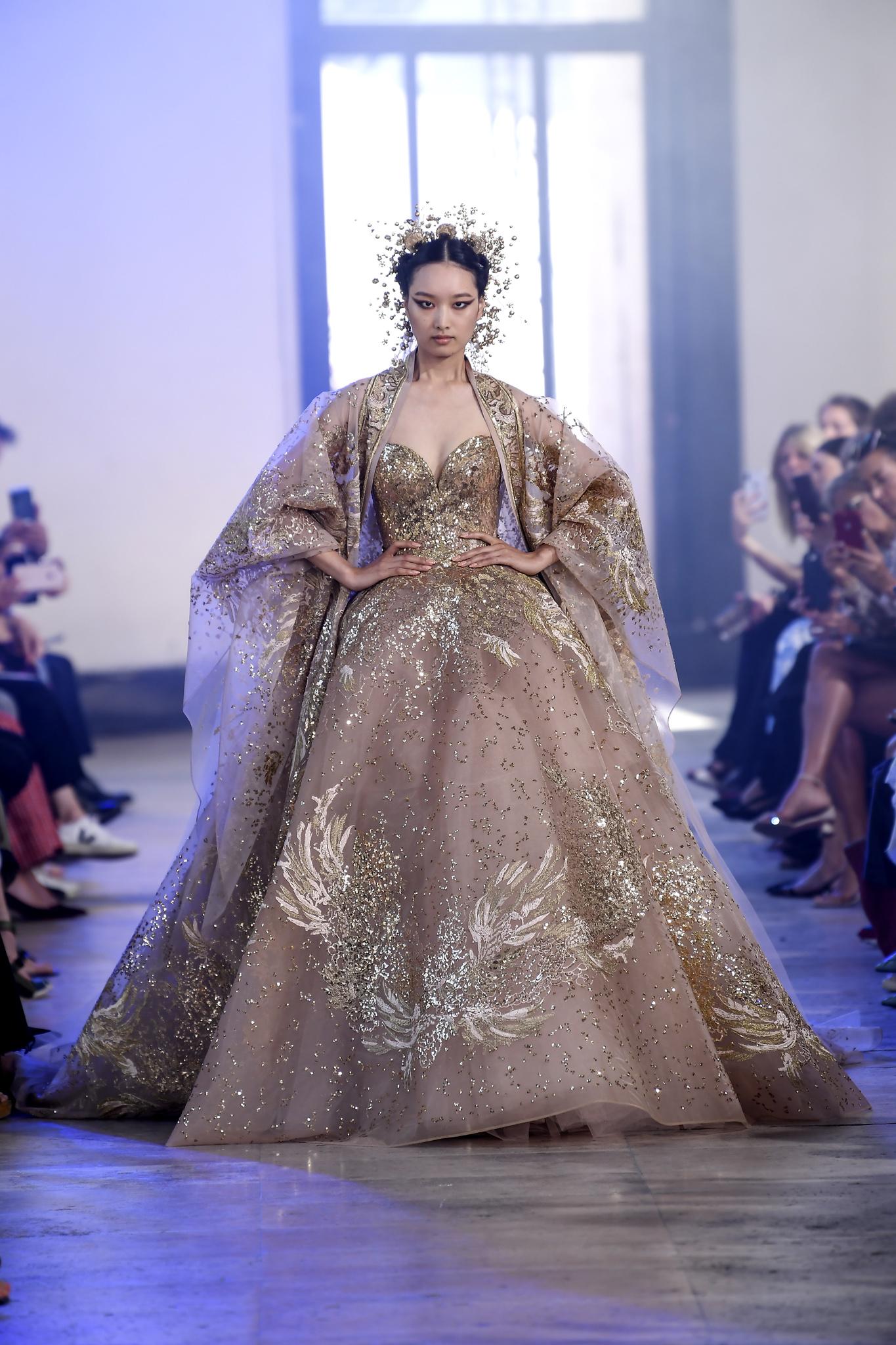 Model Baju Pesta Warna Gold