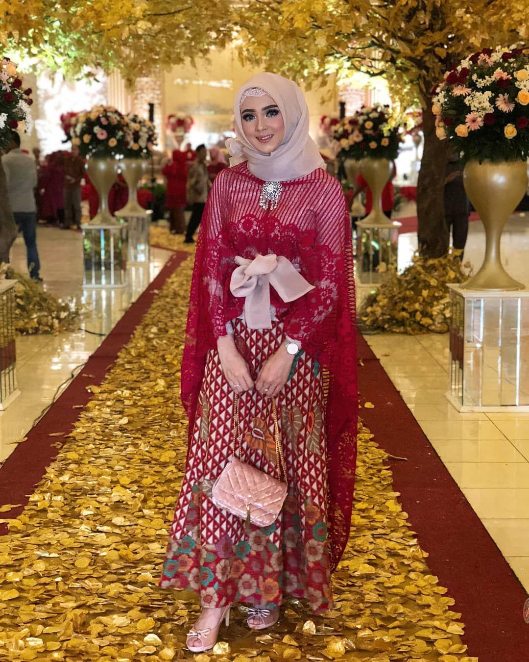 model dress brokat hijab
