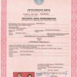 Contoh Akta Nikah Catatan Sipil