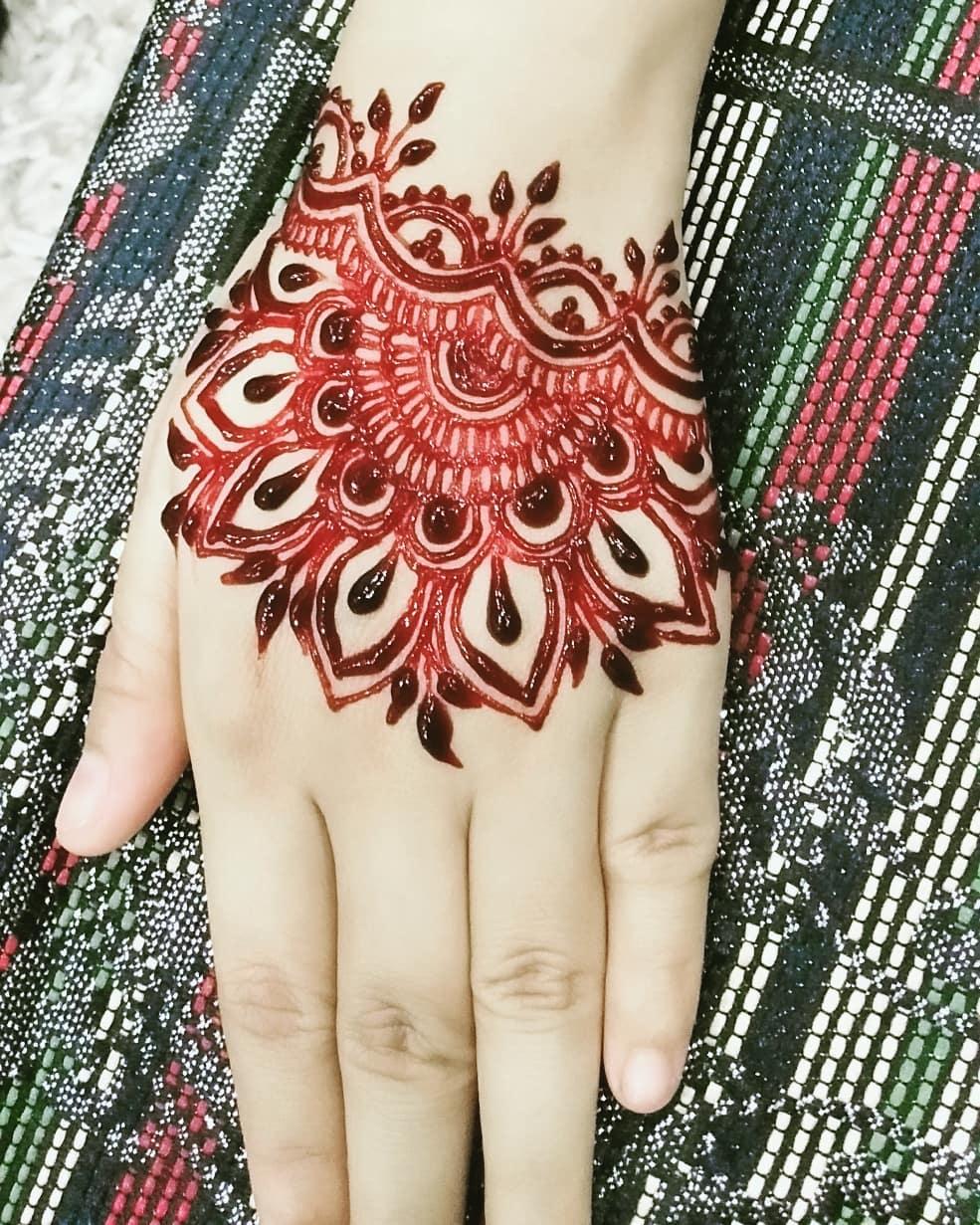 Contoh Desain Henna Pengantin