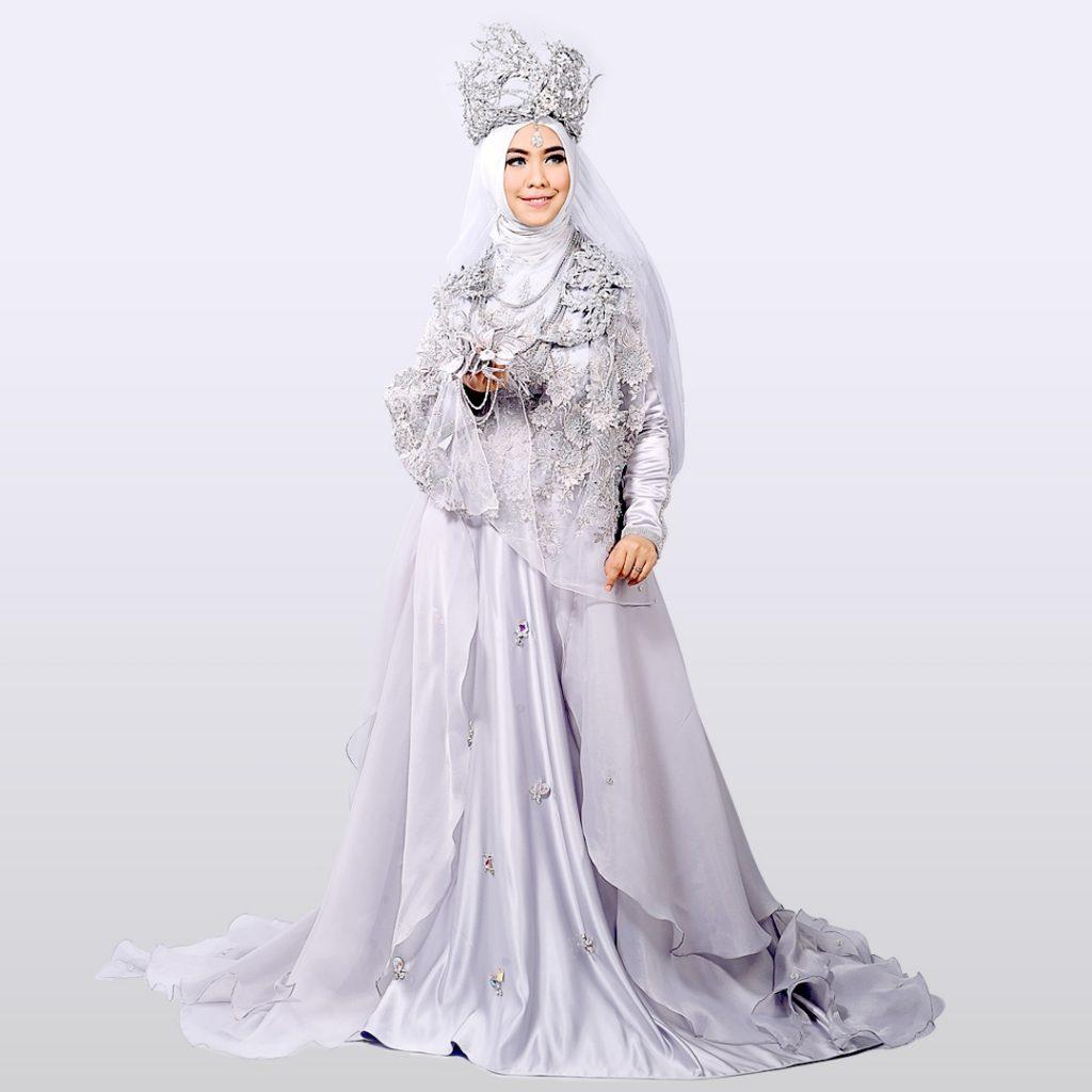 Contoh Gaun Pengantin Muslimah