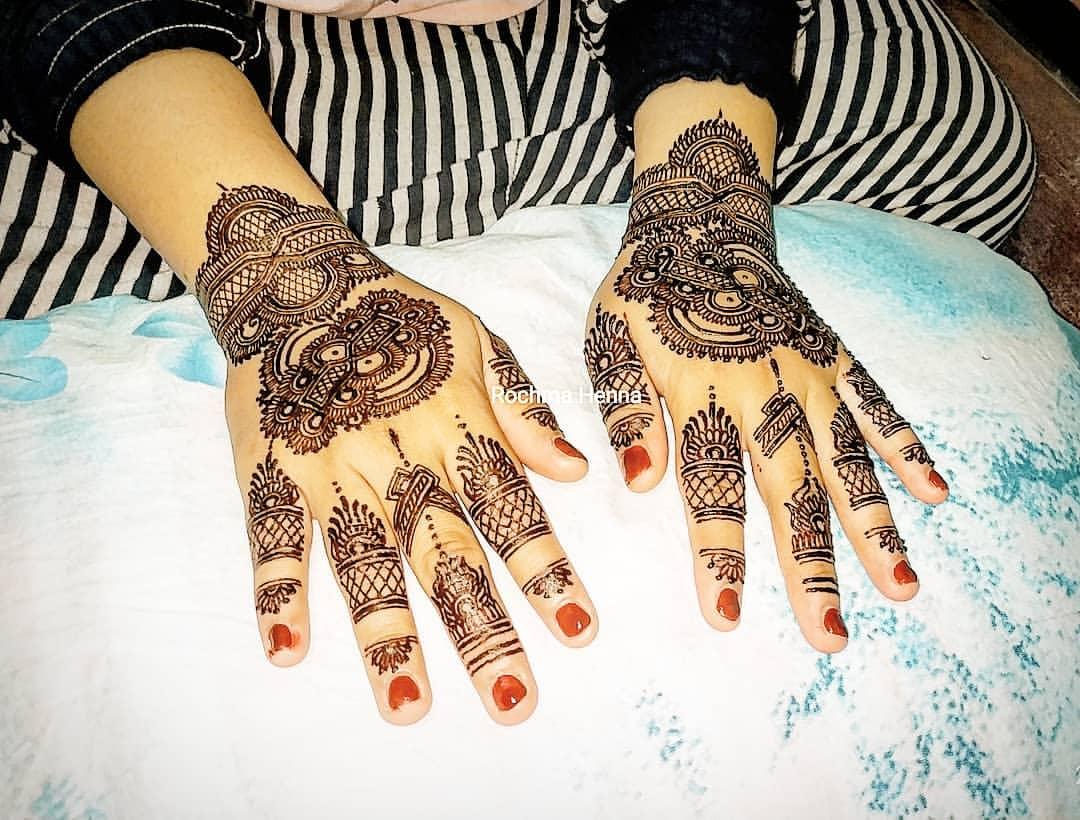 Contoh Henna Art Pengantin