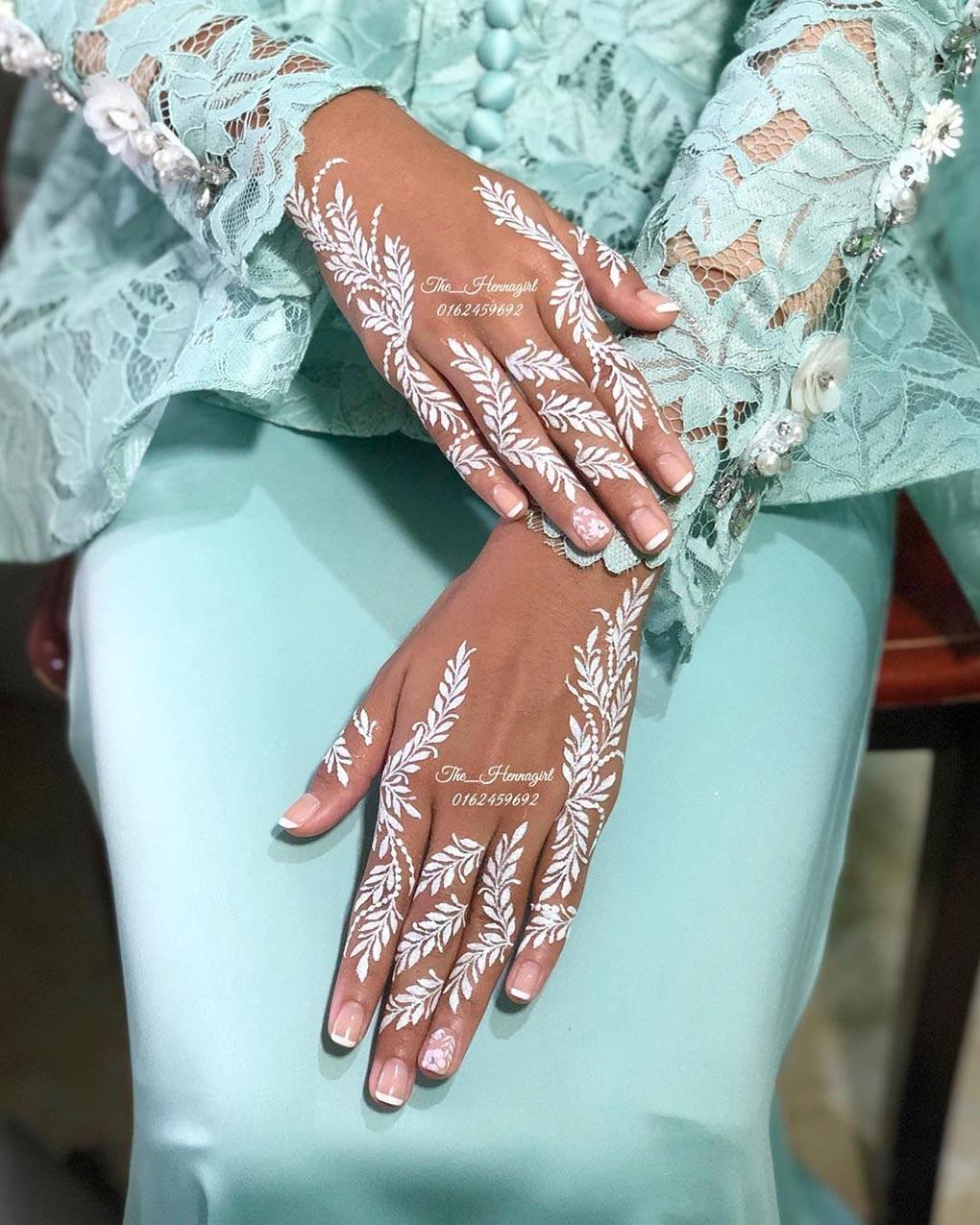 Desain Henna Tangan Pengantin
