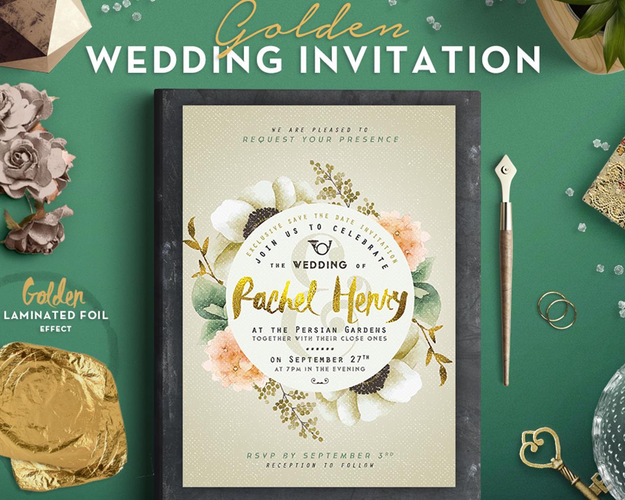 Desain Undangan Pernikahan Png
