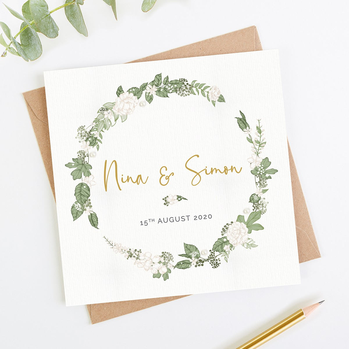 Desain Undangan Pernikahan Rustic