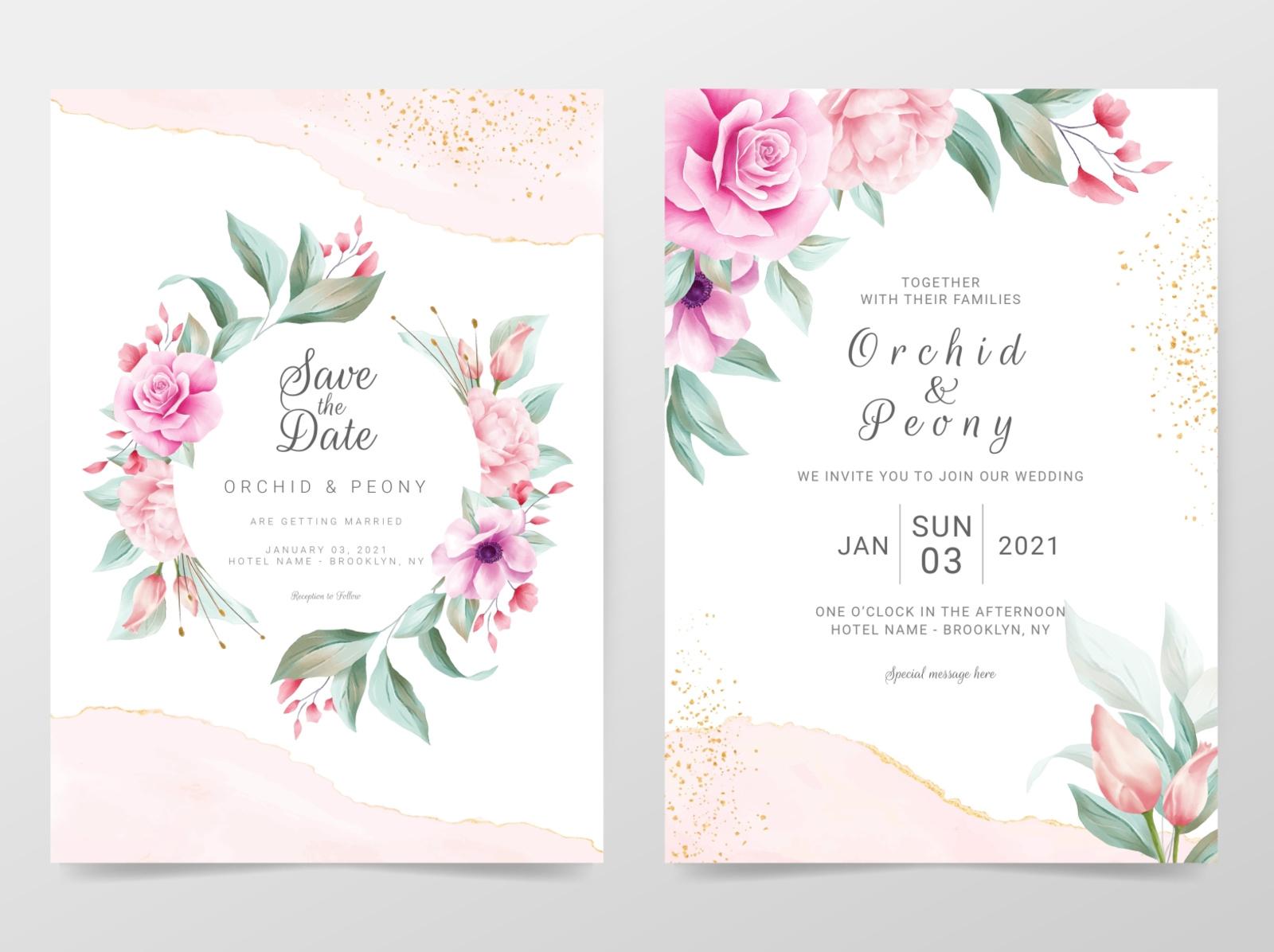 Desain Undangan Pernikahan Unik Cdr