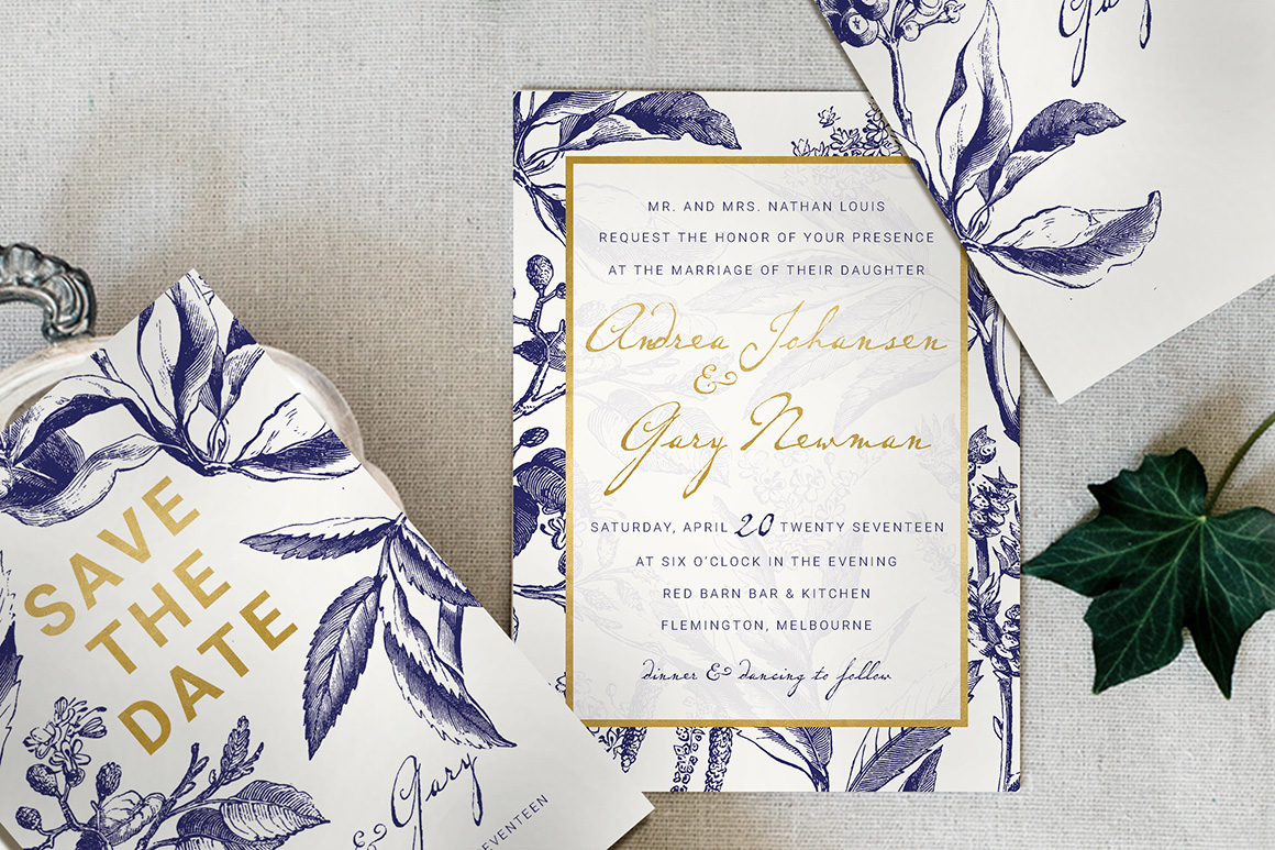 Desain Undangan Pernikahan Vintage