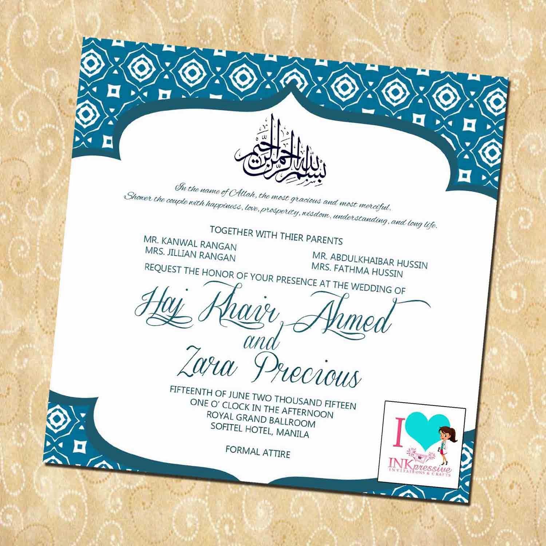 Gambar Desain Undangan Penrikahan Islami