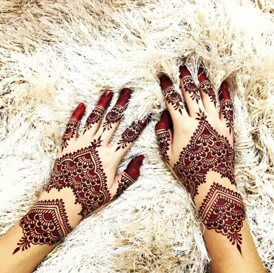 Gambar Henna Pengantin Mewah
