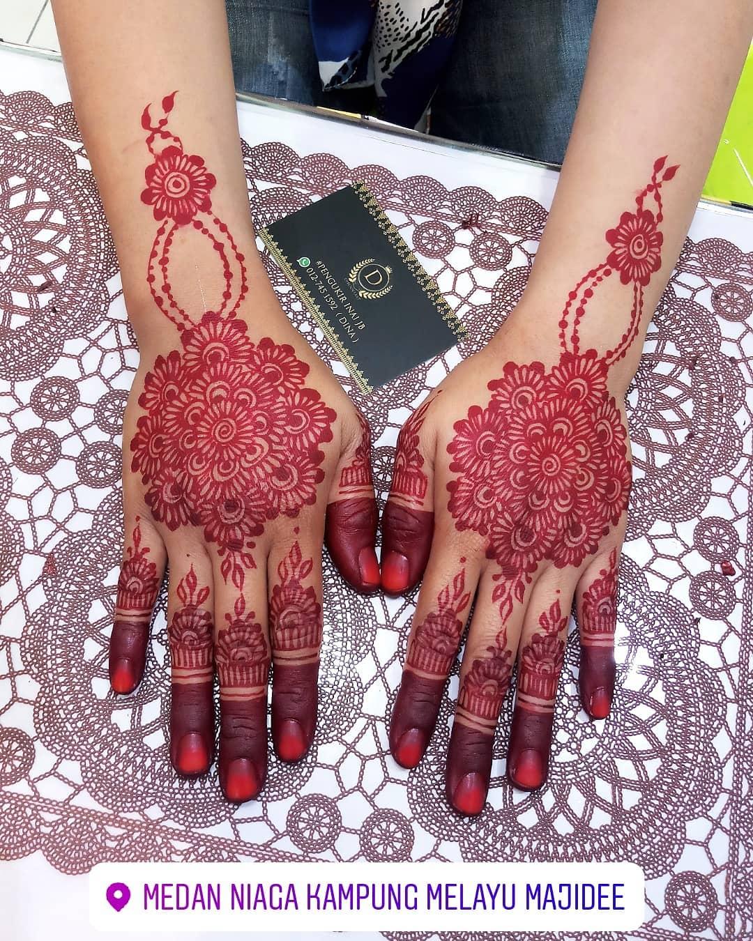 Gambar Henna Pengantin Yang Cantik