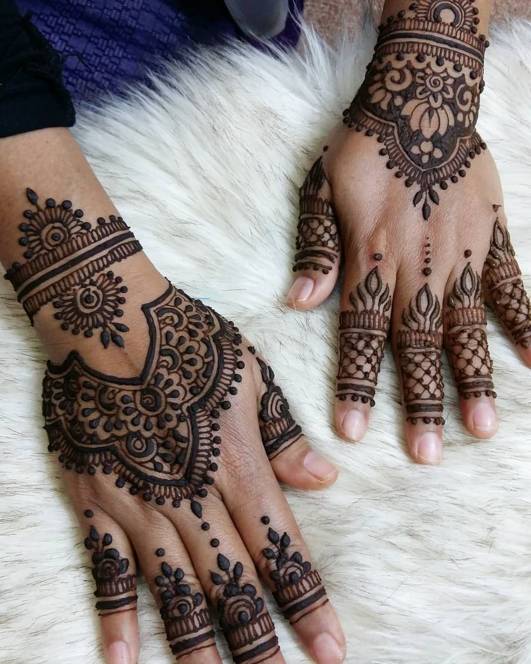 Henna Pengantin Simple Dan Cantik
