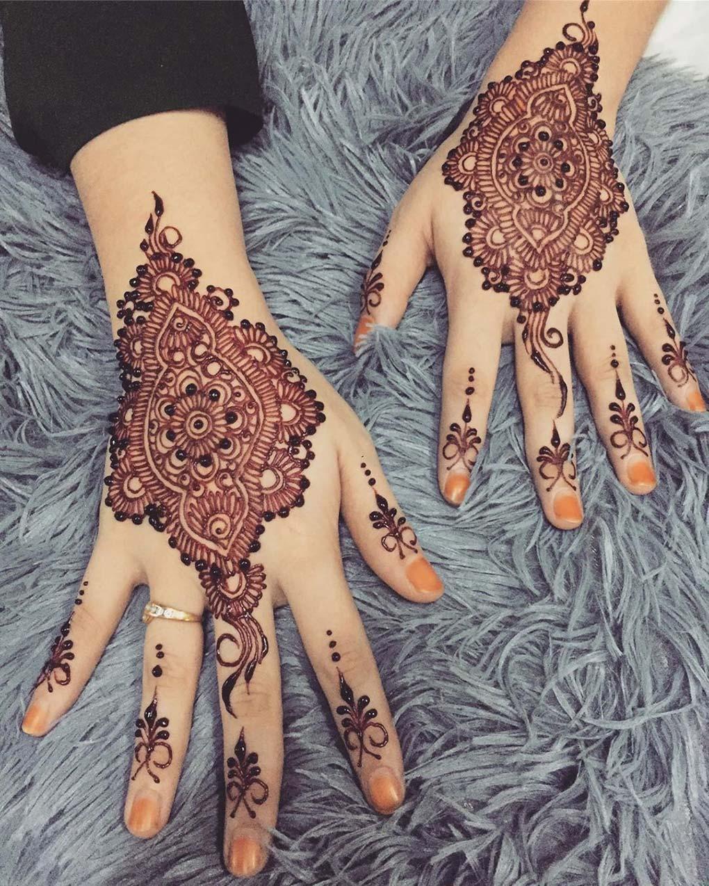 Henna Pengantin Simple Tapi Elegan