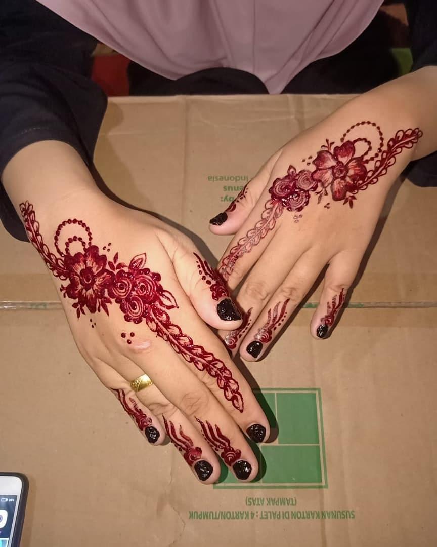 Henna Pengantin Unik