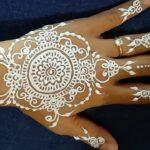 Henna Pengantin Warna Putih