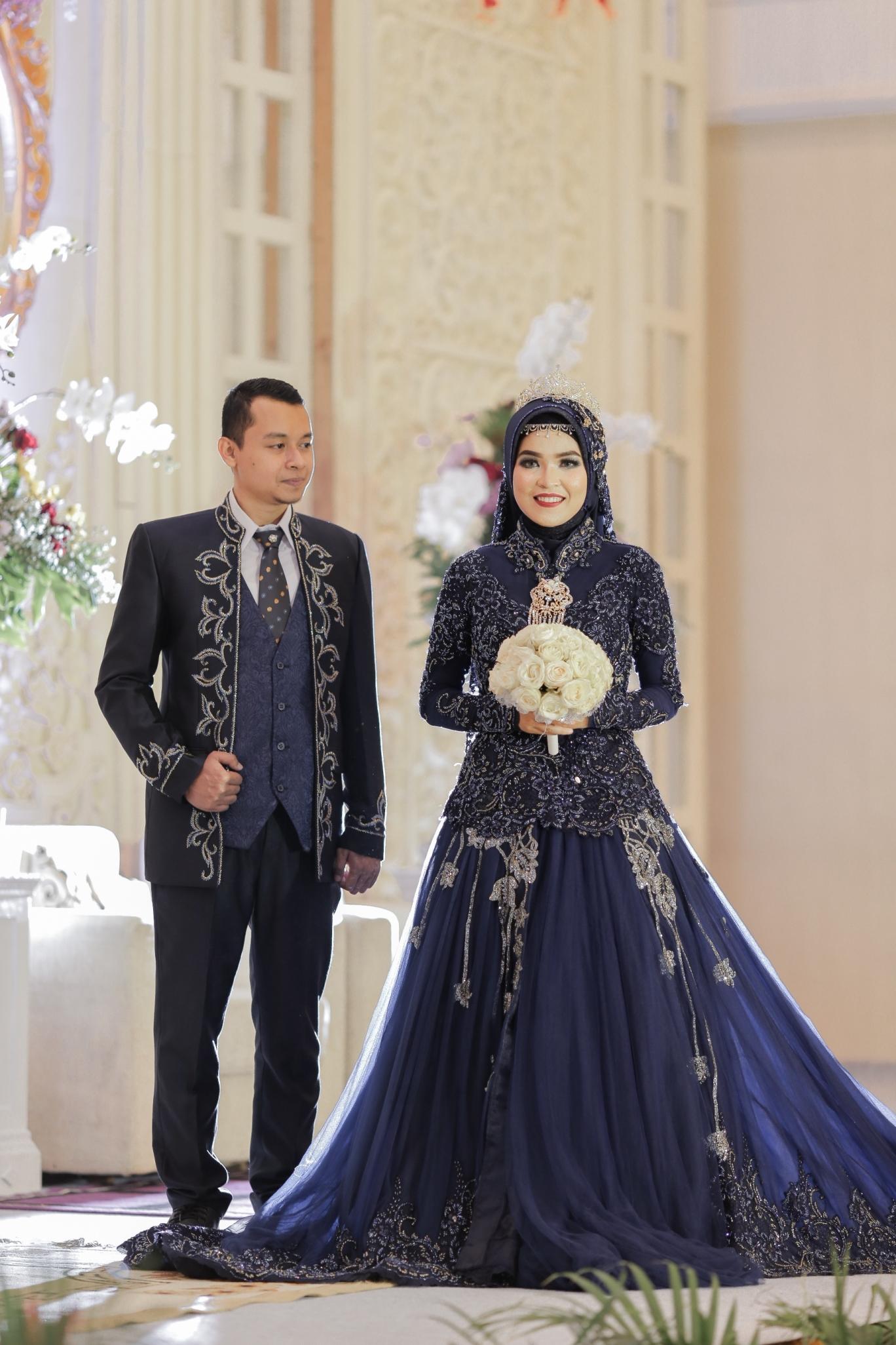 Model Gaun Pengantin Muslimah Elegan
