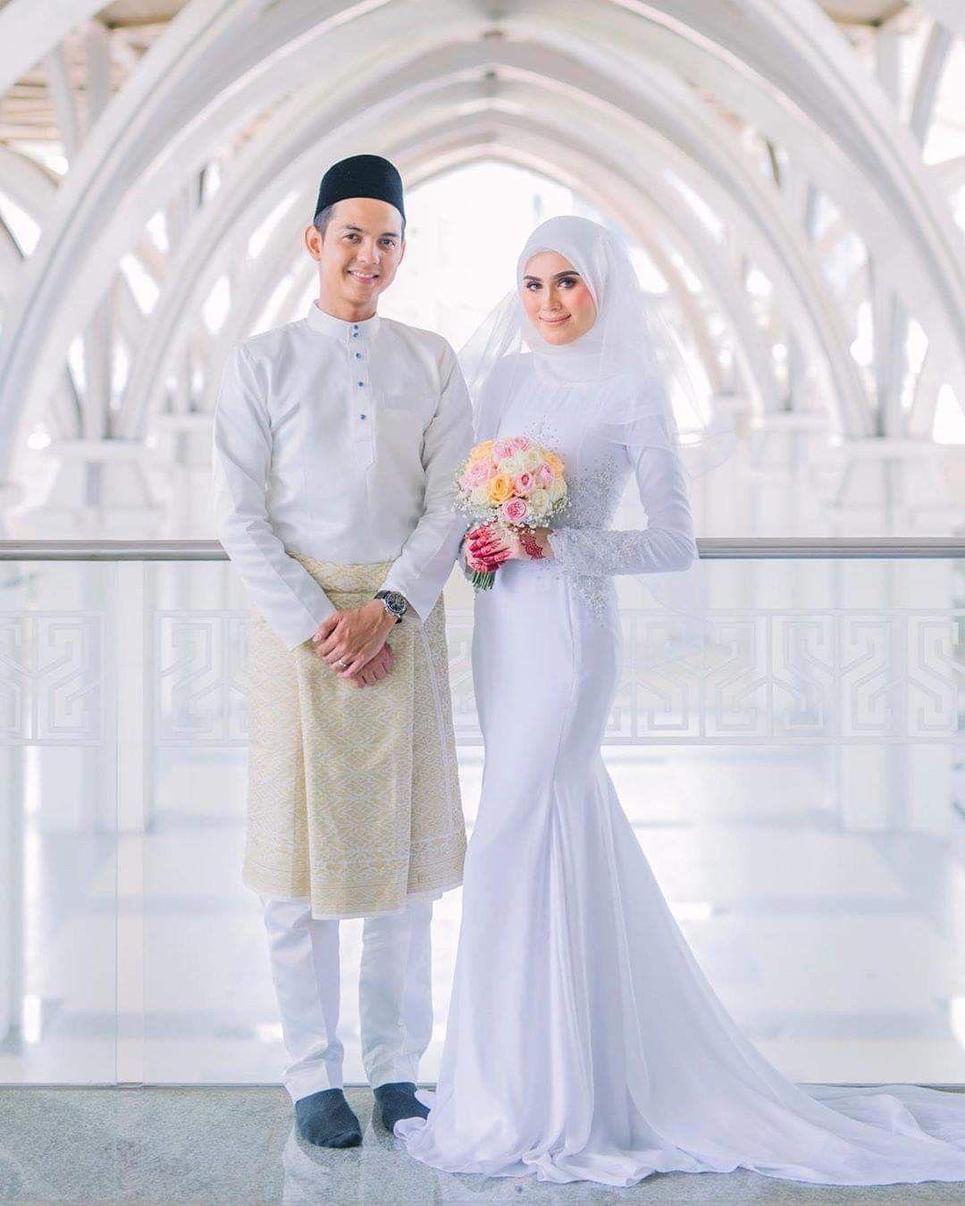 Model Gaun Pengantin Muslimah Simple