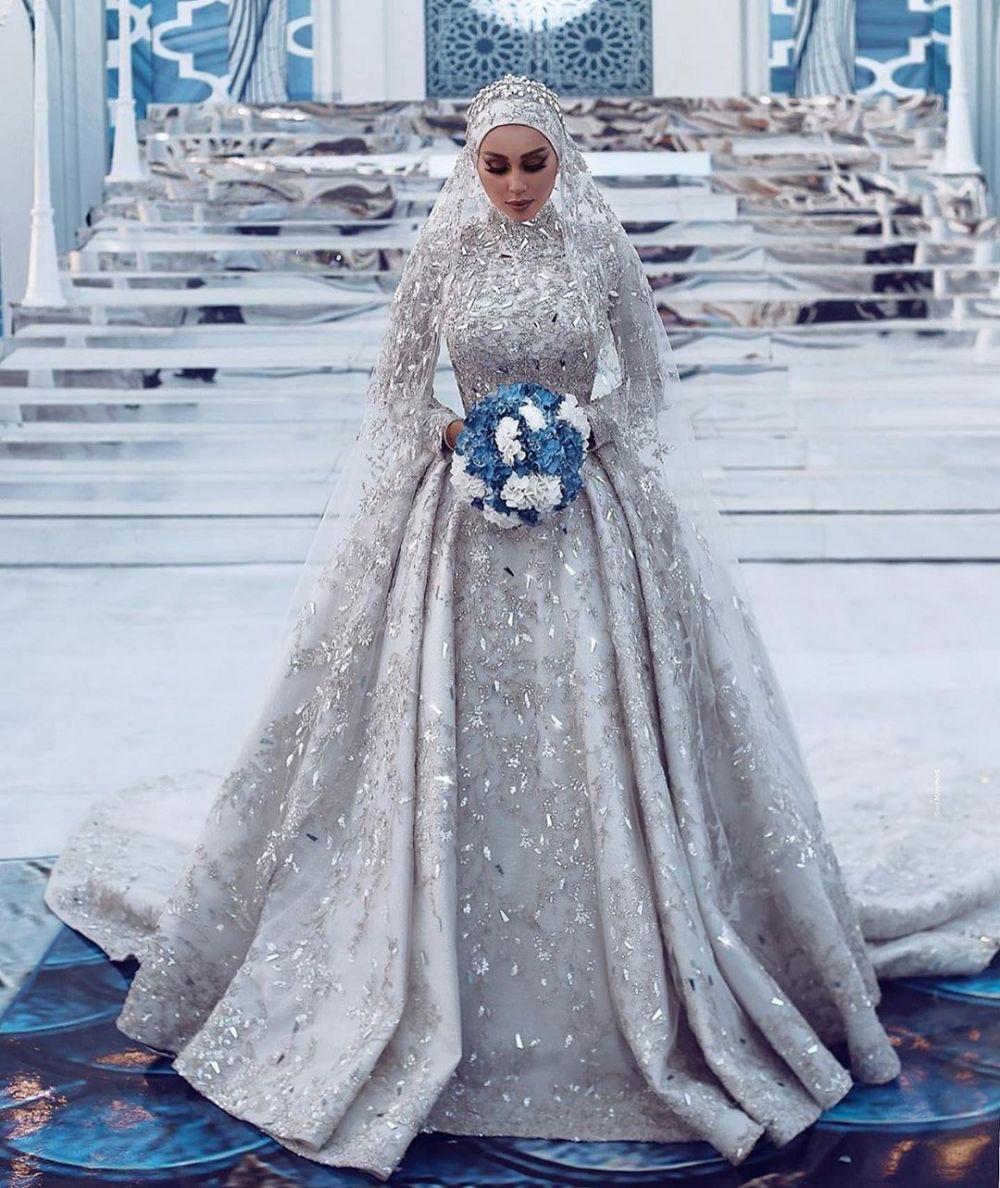 Model Gaun Pengantin Muslimah Syar'i Rabbani