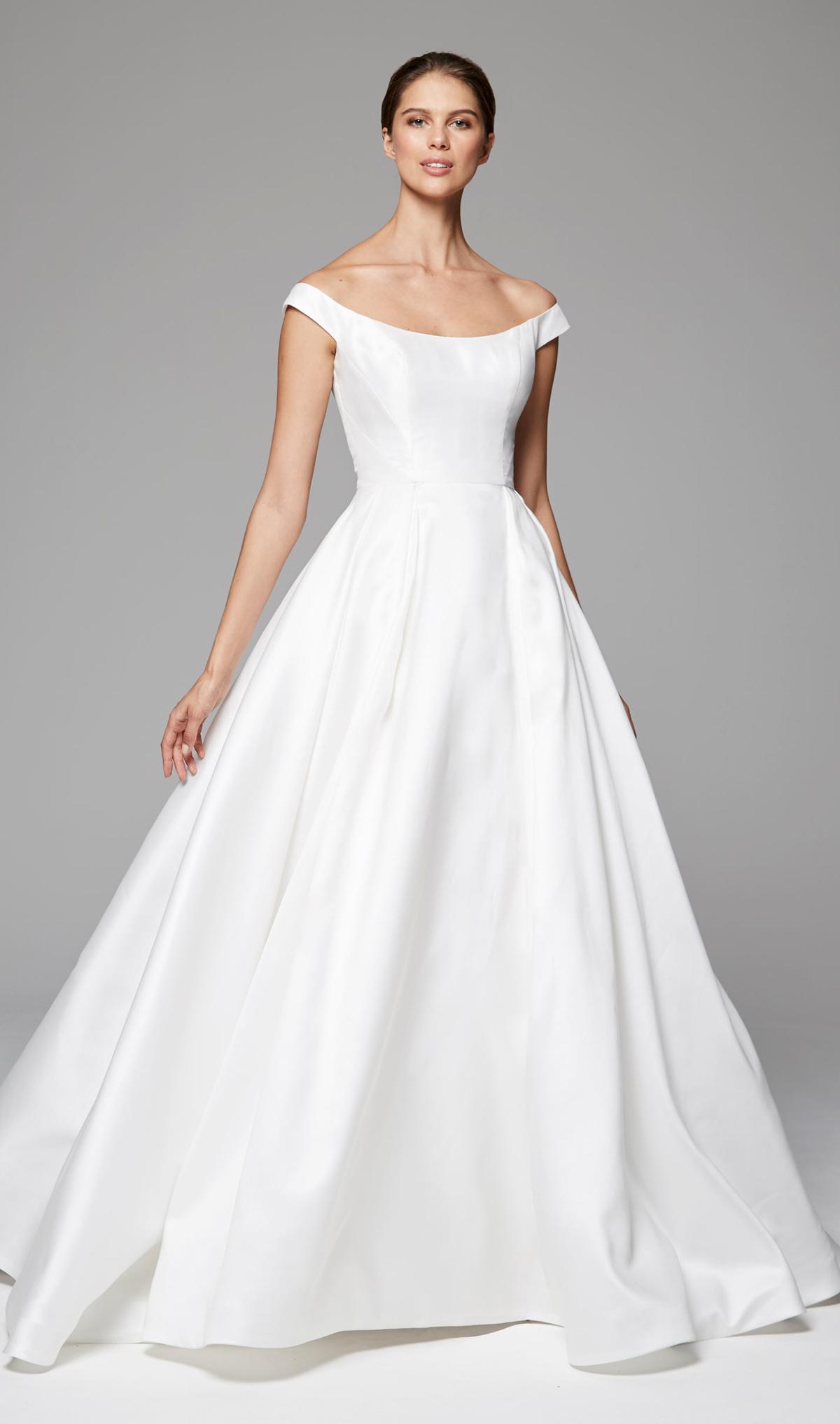 Model Gaun Pengantin Simple Warna Putih