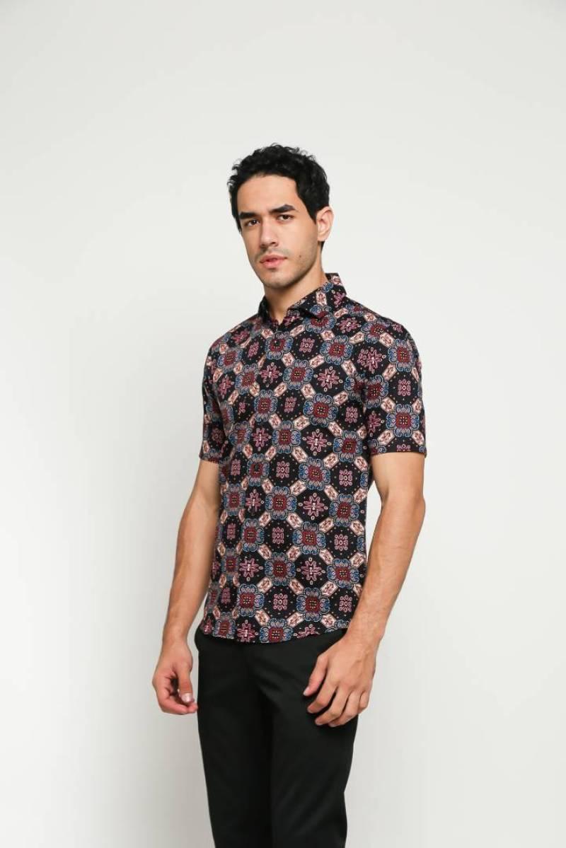 Model Hem Batik Cirebon Pendek Bulat-Bulat