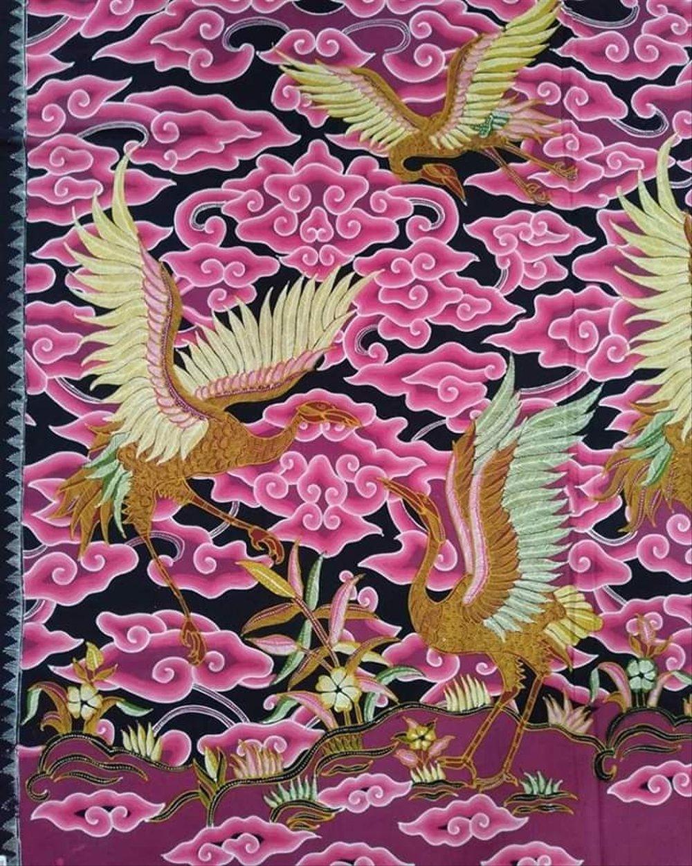 Motif Batik Cirebon Ciwaringin Bangau