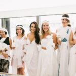 Pesta Bridal dengan Lilitan Kain Putih