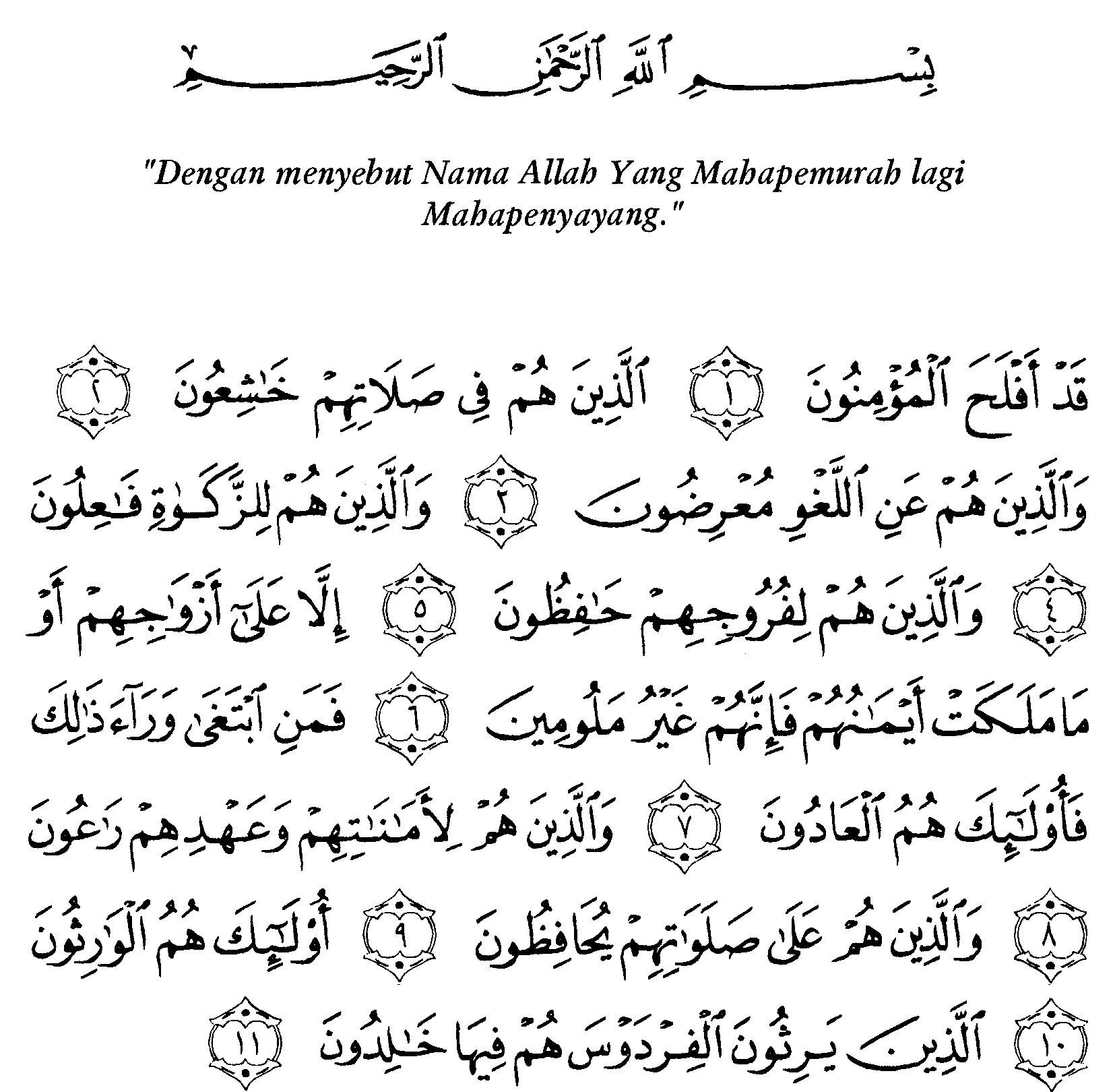 Surat Al-Mu'minun Ayat 5