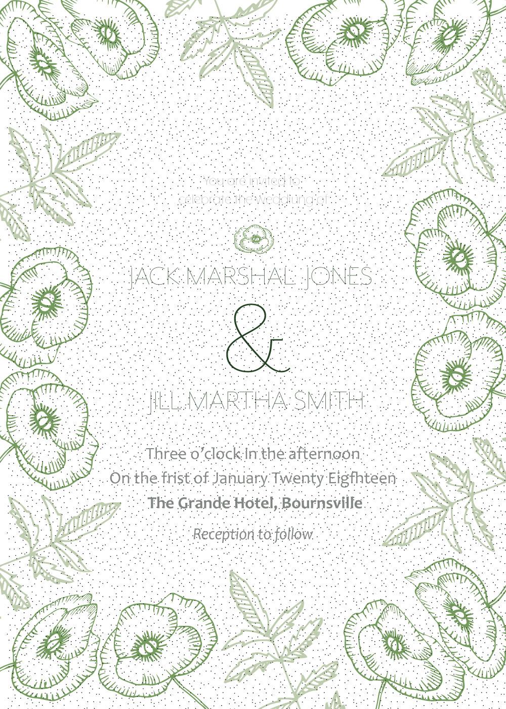 Undangan Pernikahan Unik Cdr
